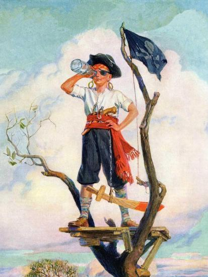 """""""Playing Pirate,""""March 1, 1929-William Meade Prince-Giclee Print"""