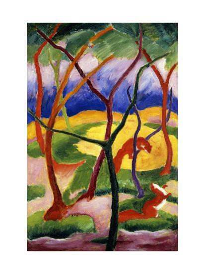 Playing Weasels-Franz Marc-Giclee Print