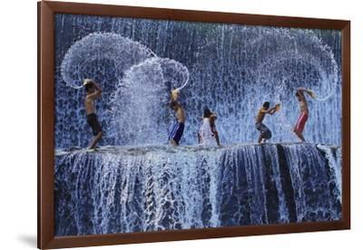 Playing With Splash-Angela Muliani Hartojo-Framed Giclee Print