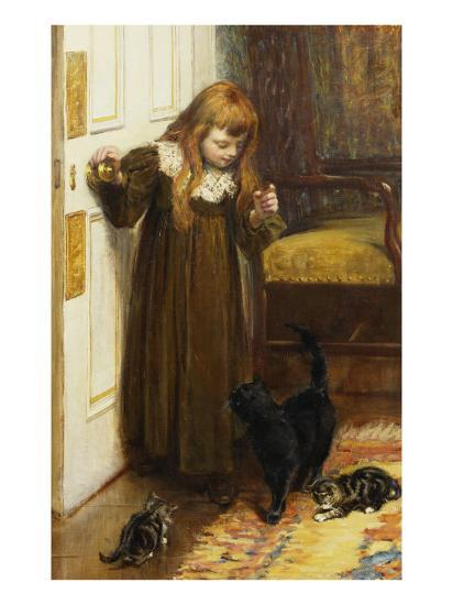 Playing with the Kittens, 1897-Edith Grey-Giclee Print