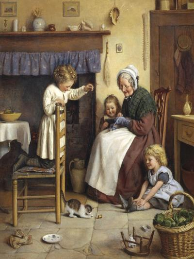Playing with the Kittens-Joseph Clark-Giclee Print