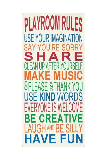 Playroom Rules-Erin Deranja-Art Print