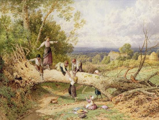 Playtime-Myles Birket Foster-Giclee Print