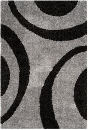 "Plaza Area Rug - Charcoal/Black 5'1"" x 7'6"""