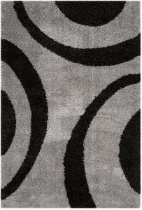 "Plaza Area Rug - Charcoal/Black 5'1"" x 7'6"""