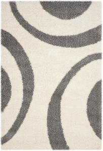 "Plaza Area Rug - Ivory/Grey 5'1"" x 7'6"""