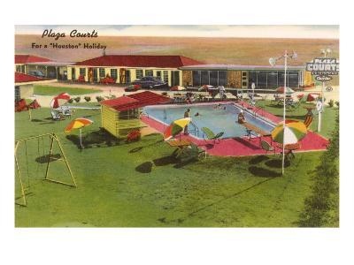 Plaza Courts Motel, Houston, Texas--Art Print