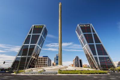 Plaza De Castilla with Puerta De Europa Twin Towers, Madrid, Comunidad De Madrid, Spain-Stefano Politi Markovina-Photographic Print