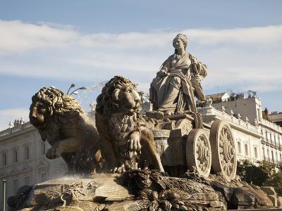 Plaza De Cibeles with Fuente De Cibele, Madrid, Spain, Europe-Angelo Cavalli-Photographic Print