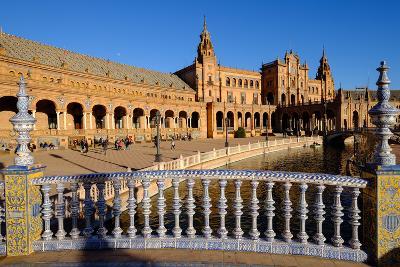 Plaza De Espana, Built for the Ibero-American Exposition of 1929, Seville, Andalucia, Spain-Carlo Morucchio-Photographic Print