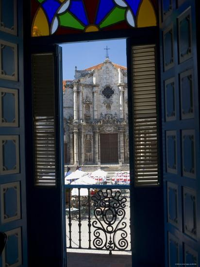 Plaza de La Catedral, Havana Vieja, Havana, Cuba-Peter Adams-Photographic Print
