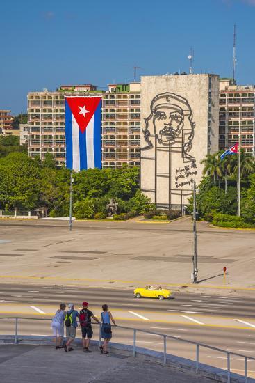Plaza De La Revolucion, Vedado, Havana, Cuba, West Indies, Caribbean, Central America-Alan Copson-Photographic Print