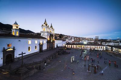 Plaza De San Francisco and Church and Convent of San Francisco at Night, Old City of Quito, Ecuador-Matthew Williams-Ellis-Photographic Print