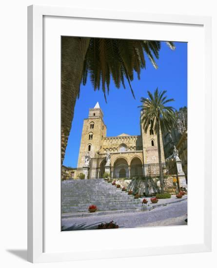 Plaza Del Duomo (Cathedral), Cefalu, Sicily, Italy, Europe-Gavin Hellier-Framed Photographic Print