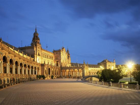 Plaza Espana, Seville, Andalucia, Spain-Jon Arnold-Photographic Print