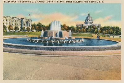 Plaza Fountain, Senate Office Building--Art Print