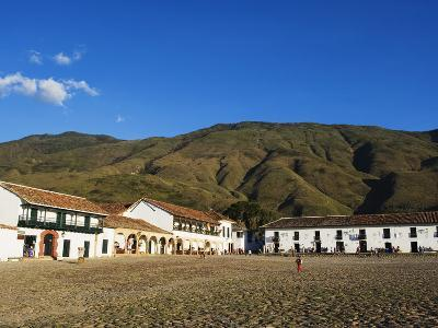 Plaza Mayor, Largest Public Square in Colombia, Colonial Town of Villa De Leyva, Colombia-Christian Kober-Photographic Print