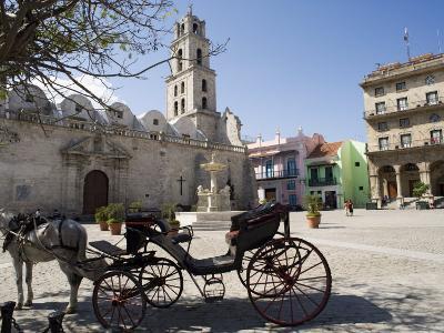 Plaza San Francisco and Basilica Menor De San Francisco De Asis, Old Havana-John Harden-Photographic Print