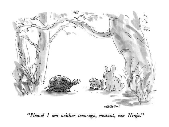 """Please!  I am neither teen-age, mutant, nor Ninja."" - New Yorker Cartoon-James Stevenson-Premium Giclee Print"