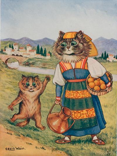Please, I Want an Orange-Louis Wain-Giclee Print
