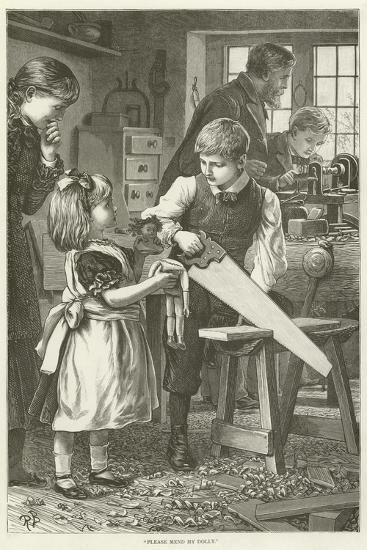 """Please Mend My Dolly""--Giclee Print"