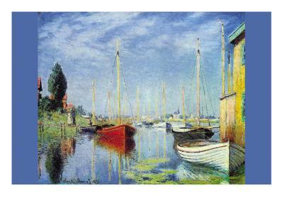 Pleasure Boats At Argenteuil-Claude Monet-Art Print