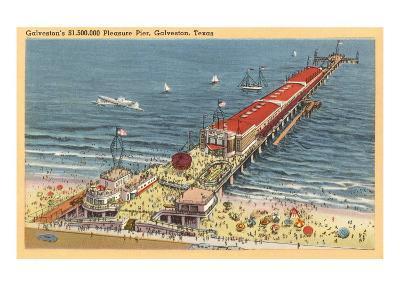 Pleasure Pier, Galveston, Texas--Art Print