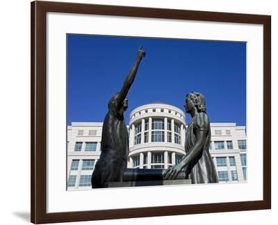 Pledge of Allegiance Statue and Scott M. Matheson Courthouse, Salt Lake City, Utah, USA-Richard Cummins-Framed Photographic Print