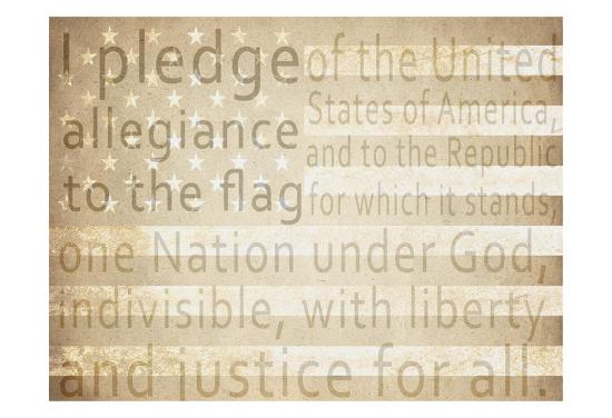 Pledge of Allegiance-Kimberly Allen-Art Print