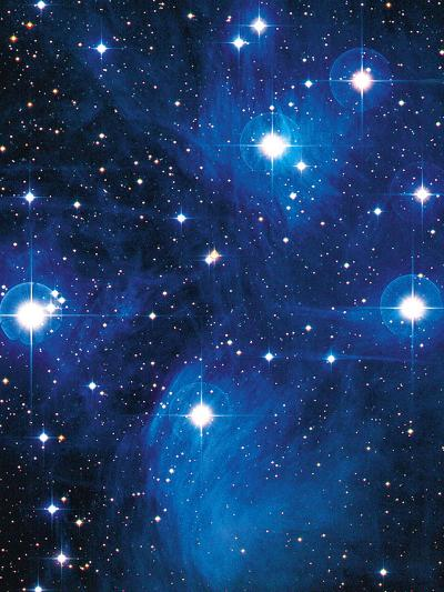 Pleiades Star Cluster-Slawik Birkle-Photographic Print