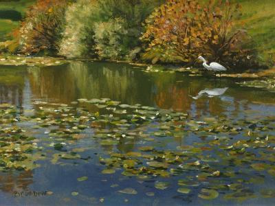 Plein Air Egret 1-Michael Budden-Giclee Print