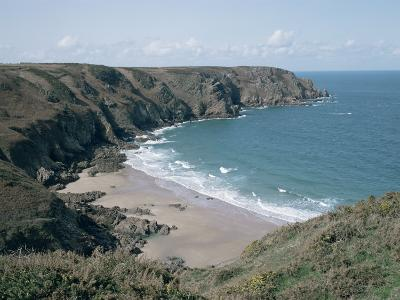 Plemont Bay from Clifftop, Greve Aulancon, Jersey, Channel Islands, United Kingdom-Julian Pottage-Photographic Print