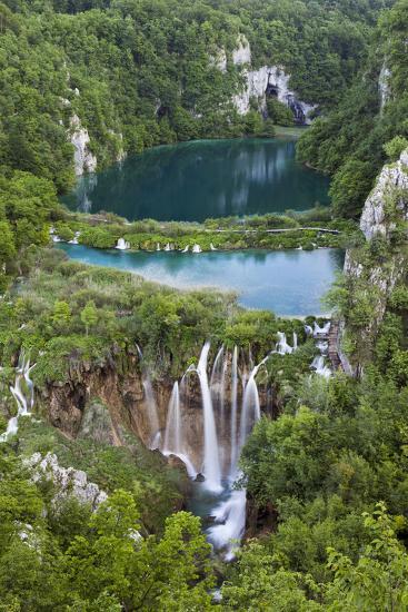 Plitvice Lakes in the National Park Plitvicka Jezera, Croatia-Martin Zwick-Photographic Print