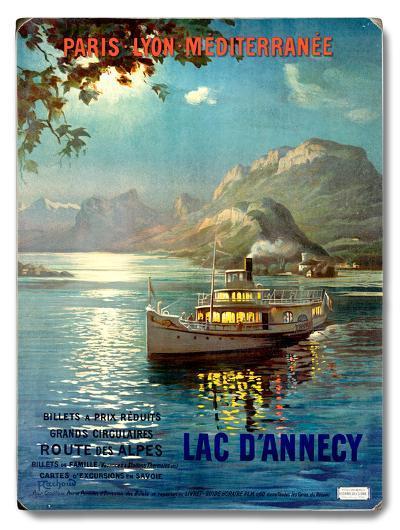 PLM Railway Lake D Annecy--Wood Sign