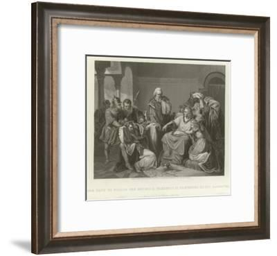 Plot to Poison the Emperor Frederic II--Framed Giclee Print