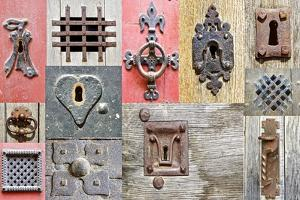 Collage Of The Fragments Old Doors by plotnikov