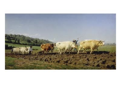 Ploughing in Nivernais, 1849-Rosa Bonheur-Giclee Print