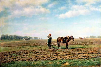 Ploughing the Field, 1871-Mikhail Konstantinovich Klodt-Giclee Print