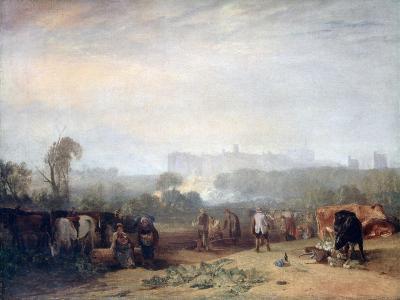 Ploughing Up Turnips, Near Slough, (Windsor), C1809-J^ M^ W^ Turner-Giclee Print