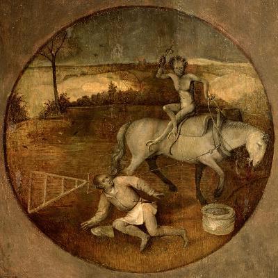 Ploughman Unhorsed by a Demon-Hieronymus Bosch-Giclee Print