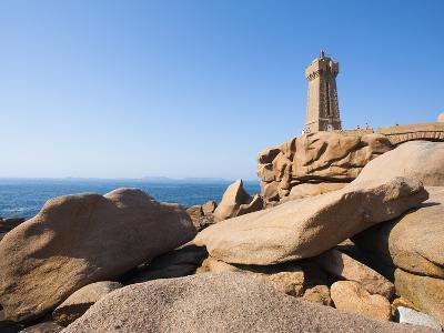 Ploumanach Lighthouse on the Cote de Granit Rose-Frank Lukasseck-Photographic Print
