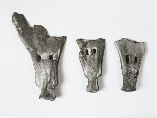 Plows and Tools Made of Bone in the Form of Small Shovel, China, Hemudu Culture--Giclee Print