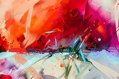 Abstract Colorful Oil Painting on Canvas Texture. Hand Drawn Brush Stroke, Oil Color Paintings Back