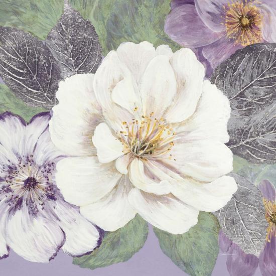 Plum and Lavender Garden 1-Colleen Sarah-Art Print