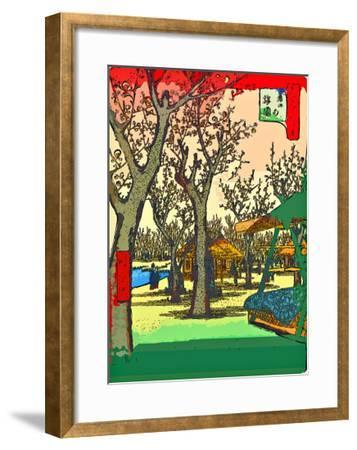 Plum Garden at Kamata-Ando Hiroshige-Framed Giclee Print