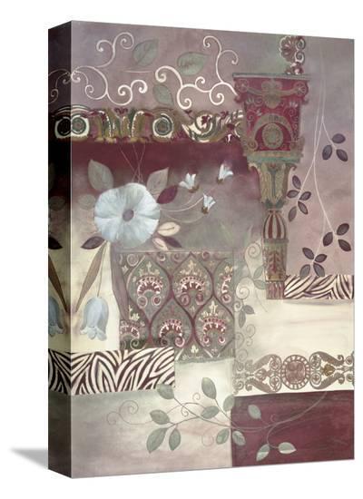 Plum Paisley-Muriel Verger-Stretched Canvas Print