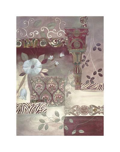 Plum Paisley-Muriel Verger-Art Print