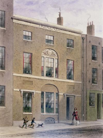 Plumbers Hall in Great Bush Lane, Cannon Street, 1851-Thomas Hosmer Shepherd-Giclee Print