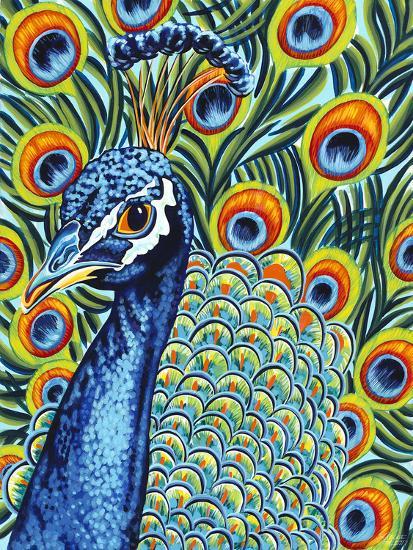 Plumed Peacock I-Carolee Vitaletti-Art Print