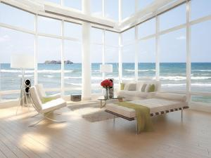 A Loft Apartment Interior with Seascape View by PlusONE